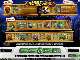 free Tales of Krakow slot payout