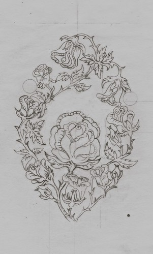 Tracing Back Center Eaton Rose 3x3""