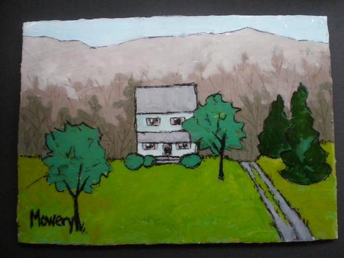 Far Away Farm, acrylic Barbara Mowery 2012