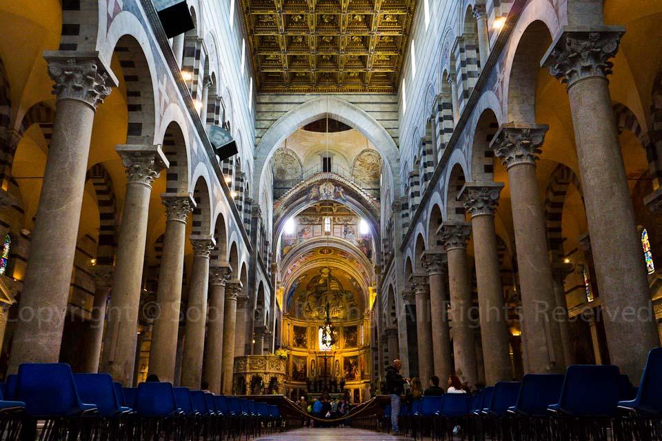 Interior of Duomo of Pisa @ Pisa, Italy