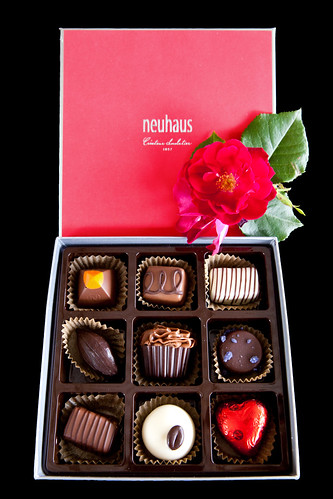 Inside my box of Neuhaus chocolates