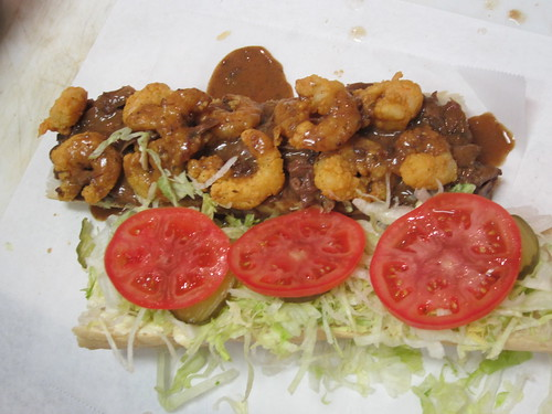 Surf & Turf Po-Boy. Photo by Melanie Merz.