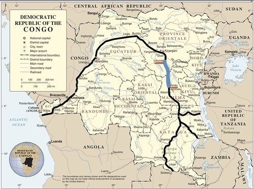 Congo river map