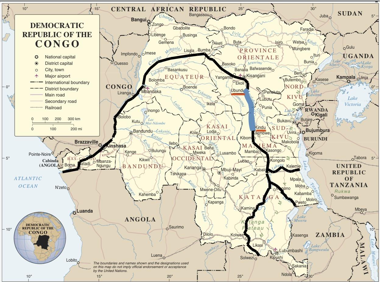 Ubangi River Map Africa Ubangi River | www.pix...