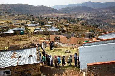 Lesotho voters line up to participate in the parliamentary elections of May 2012. The incumbent Prime Minister Phakalitha Mosisili was ousted by opposition parties. Tom Thabane will become the new premier. by Pan-African News Wire File Photos