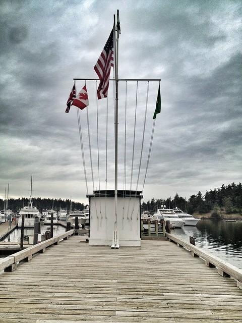 Roche Harbor Flags