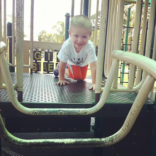 Playing at the #park!