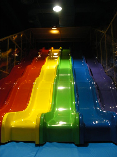 Indoor Playground Equipment - New Wave Slide by Iplayco - Indoor Playground Equipment