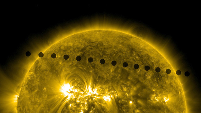 SDO's Ultra-high Definition View of 2012 Venus Transit -- Path Sequence