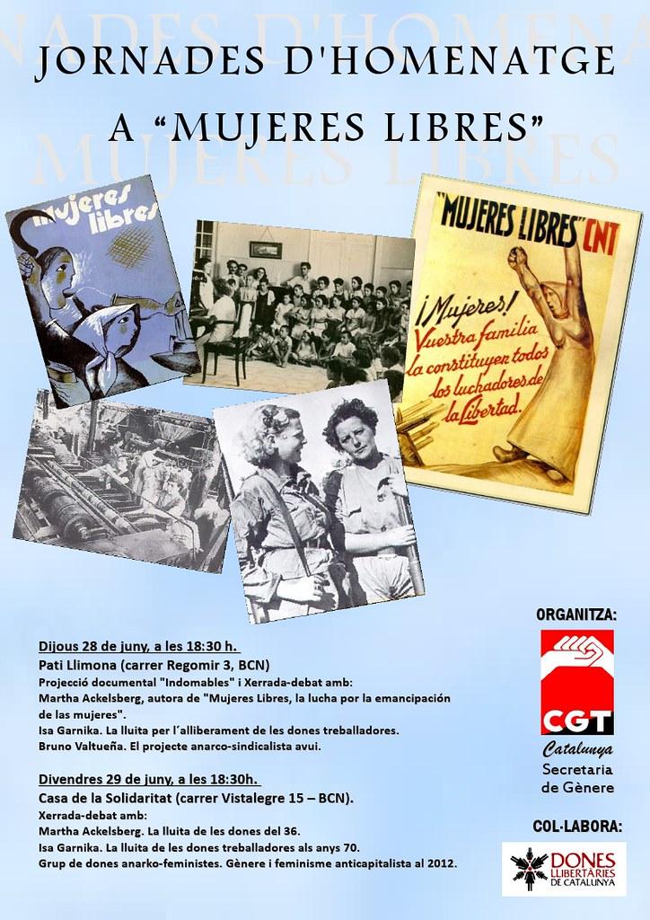 Jornades d'homenatge a Mujeres Libres