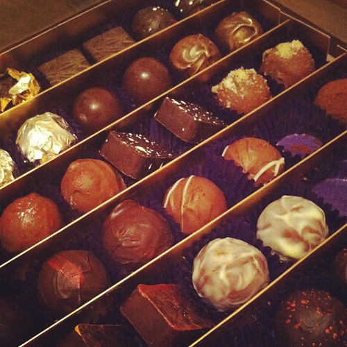 Paul A Young birthday chocolates
