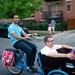 Tomas and Josh ride a bakfiets at Cargo Bike Roll Call, June 2012 by Steven Vance