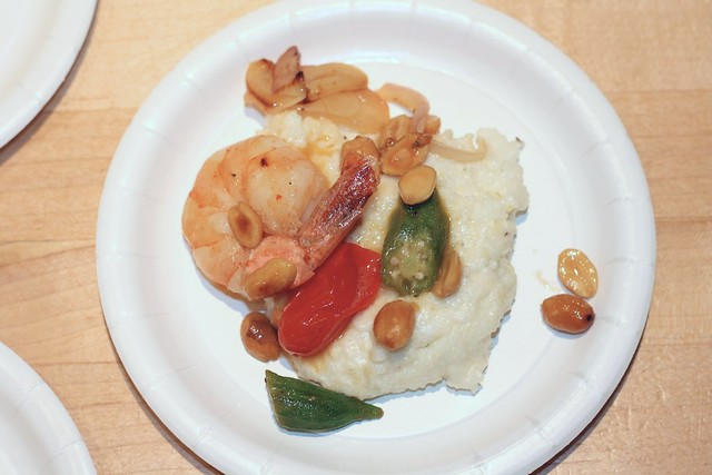 Shrimp & Grits with Peanuts, Okra & Tomato | RECIPE: www.tas ...