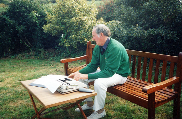 dad in Ireland writing