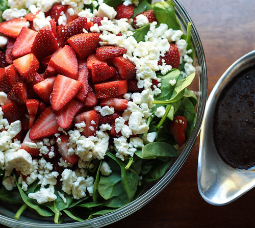 Spinach Strawberry Salad with Feta