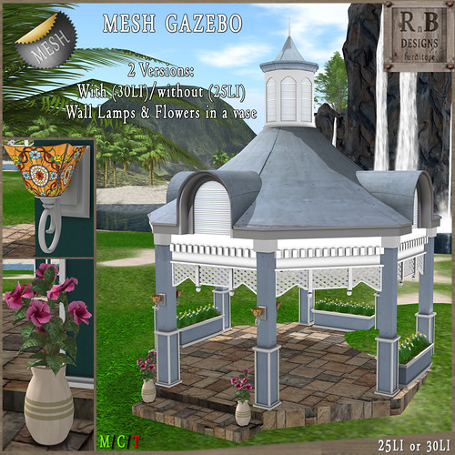 NEW ON SALE ! *RnB* Mesh Cambridge Gazebo - Blue (copy)