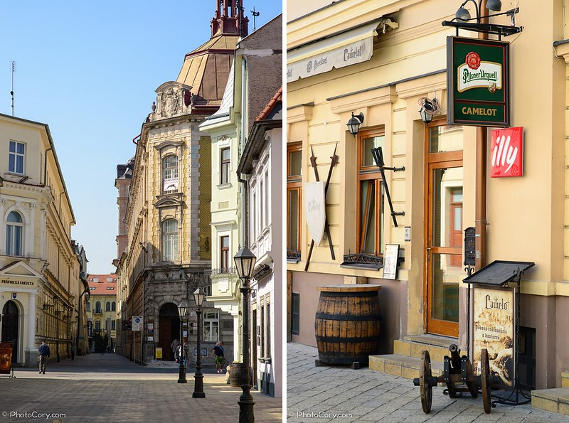 Historical center in Kosice, Slovakia
