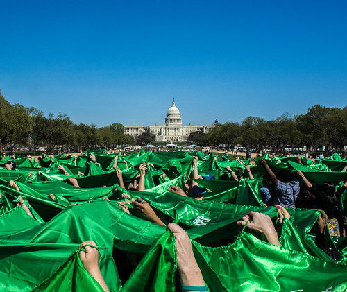 Sea of Green - Capitol Building Centered by Geoff Livingston