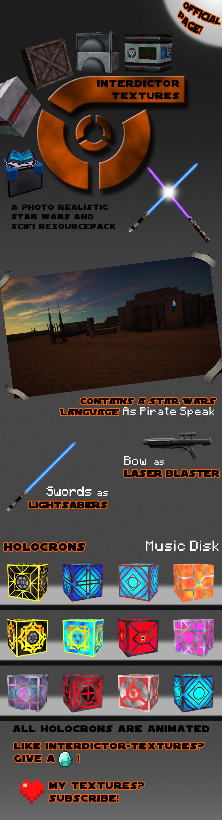 [32-512x][1.8] Star Wars Resourcepack: Interdictor-Textures Minecraft Texture Pack
