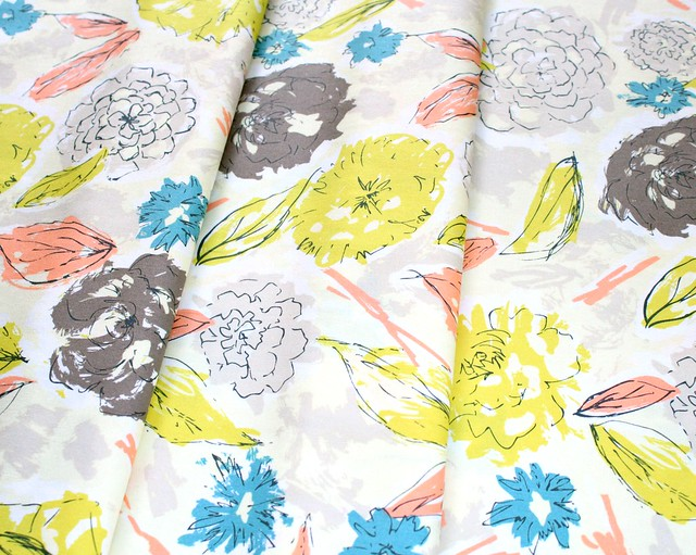 Art Gallery Fabrics Tapestry Paper Flowers Aurora