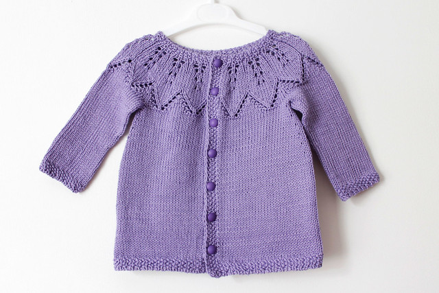 Lilac baby cardigan