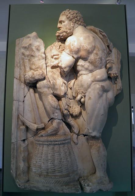 Hercule et les écuries d'Augias (Hercules' Fifth Labor: the Augean Stables) MSR, Musée Saint-Raymond, Villa romaine de Chiragan, Musée des Antiques de Toulouse