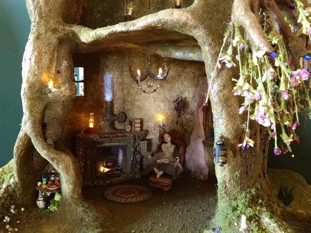 Fairy Tree Trunk House In Progress Flickr Photo Sharing