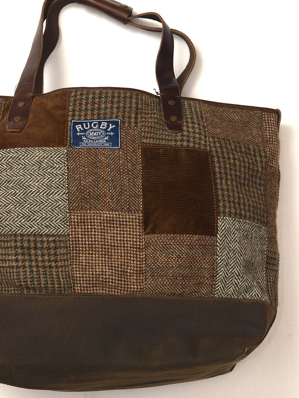 Rugby / Tweed Patchwork Tote
