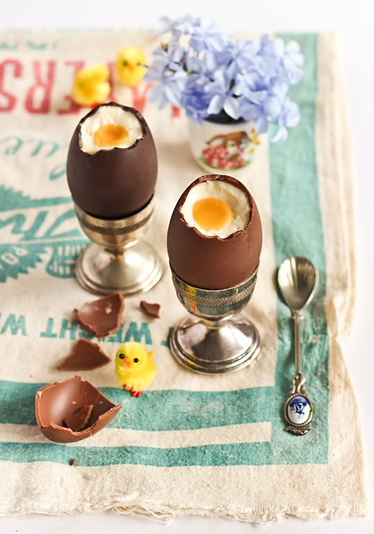 Cheesecake Filled Chocolate Easter Eggs by raspberri cupcakes