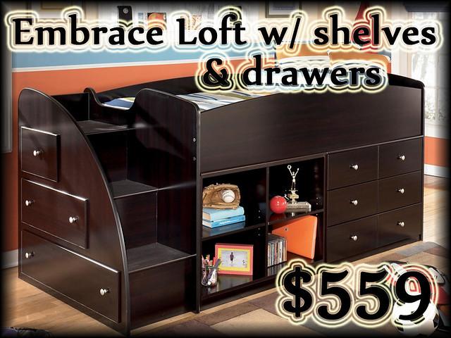 B239EMBRACELOFTshelves&drawers$559