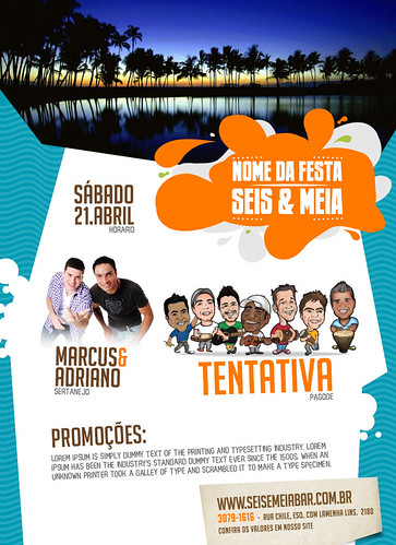 Flyer Sábado Seis & Meia by chambe.com.br
