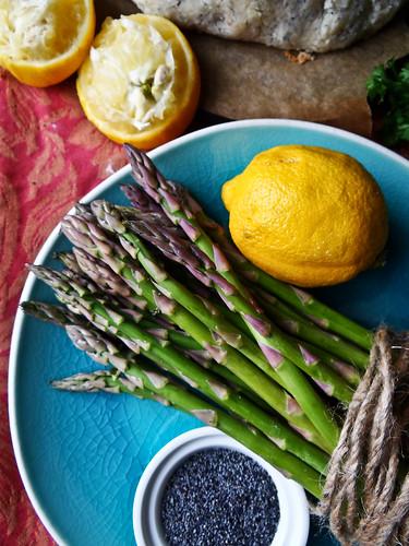 rustic asparagus quinoa tart