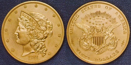 $50 gold pattern coin