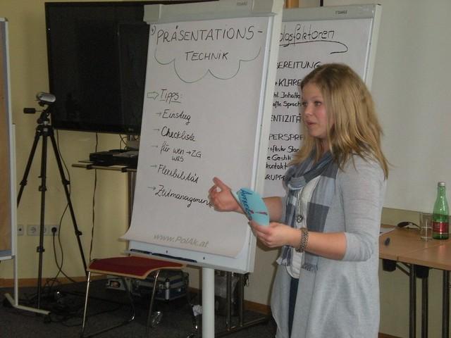 Lisa präsentiert Techniken