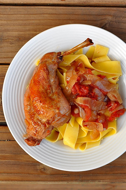 Braised Rabbit with Noodles
