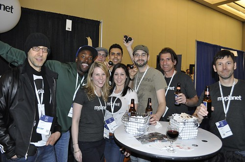 photo of Myplanet booth and peeps