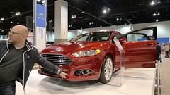 automobile, exhibition, executive car, vehicle, automotive design, auto show, full-size car, ford motor company, ford, land vehicle, luxury vehicle, motor vehicle,