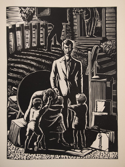 White Collar, c. 1940 - Linocuts by Giacomo G. Patri