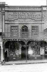 Murray Street 118 The Bunyip Printing Office third premises, photo taken 1905-1910