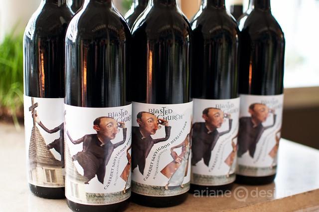 Blasted Church Cabernet Sauvignon Merlot at menu launch