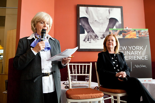 Gillan Duffy, Culinary Editor of New York Magazine (left) and Susan Ungaro of James Beard Foundation (right)