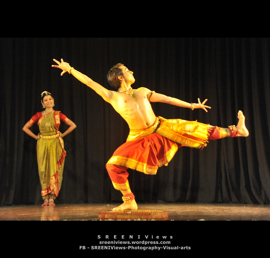 me and my partner. promising Bharatanatyam dancers - satyapriya and christopher
