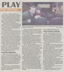 Scanned copy of Lowell Sun feature on the Lowell Film Collaborative (2009)