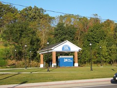empirestatefuture posted a photo:	A drive-thru ATM occupies a key piece of the Village of Victor's very limited land.