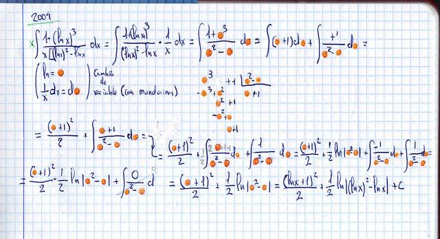 Cambio de variable con mandarinas, o por qué el nombre es poco importante