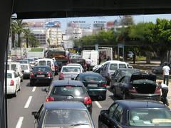 Traffic jam in Casablanca