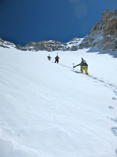 Bootpacking the face to the summit. Jamie Bond photo