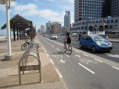 Bike path along the coast