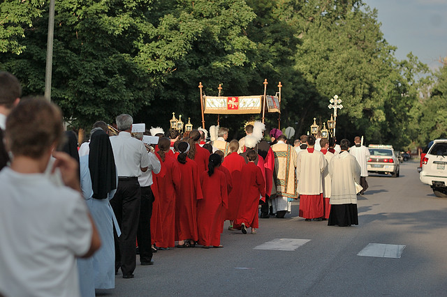 Cathedral Basilica of Saint Louis, in Saint Louis, Missouri, USA - 2012 Corpus Christi Procession - 3