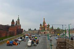 Vue sur la Place Rouge depuis le Pont Bolshoy Moskvoretsky